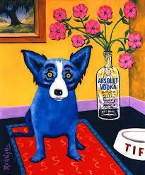 """Blue Dog Series"" <br>George Rodrique (1944 - 2013)<br> Acrylic on Canvas Blue Dog Series"